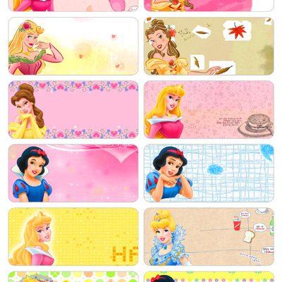 6004 - Sticker vải là (ủi) vào quần áo hình công chúa