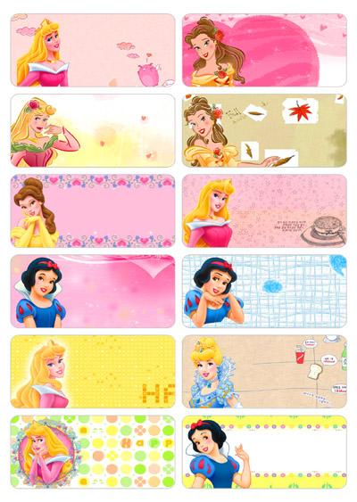 6004 – Sticker vải là (ủi) vào quần áo hình công chúa