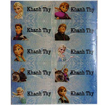 6018 - Sticker là (ủi) vào quần áo hình Elsa - Frozen