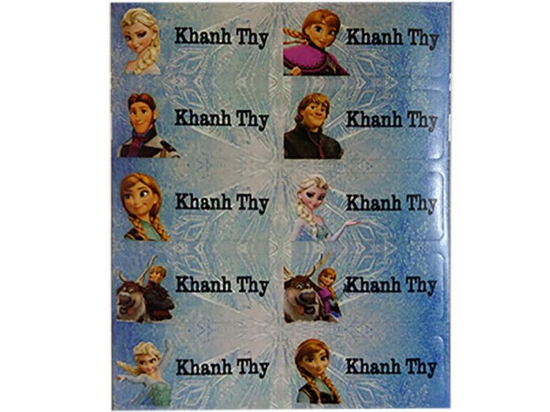 6018 – Sticker là (ủi) vào quần áo hình Elsa – Frozen
