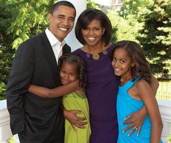 """10 châm ngôn nuôi dạy con """"để đời"""" của vợ chồng Barack Obama"""